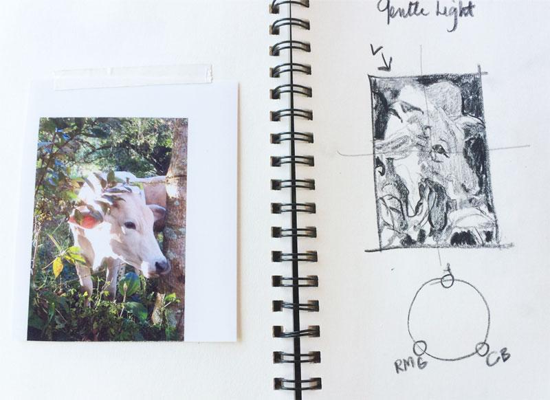 sketchbook photo - value composition sketch
