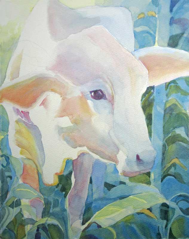 Gentle Light - watercolor, Jan Hart