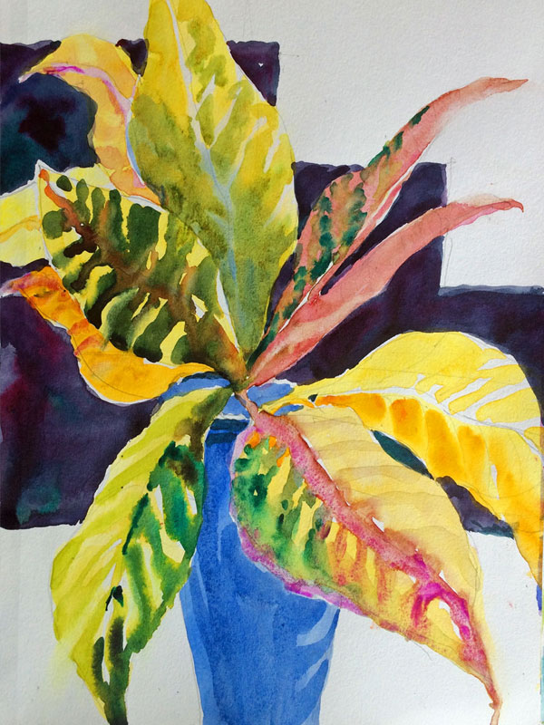 Croton Leaves in a Vase, JH 2016