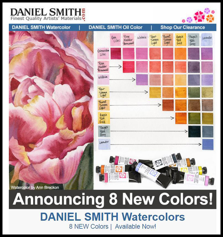 8 new colors by Daniel Smith
