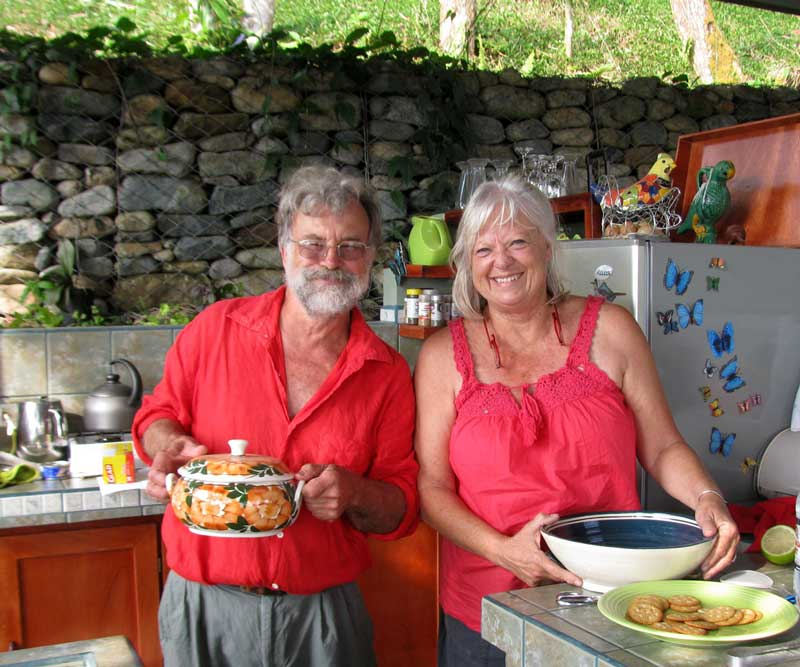 Frank and Jan in Jan's outdoor kitchen